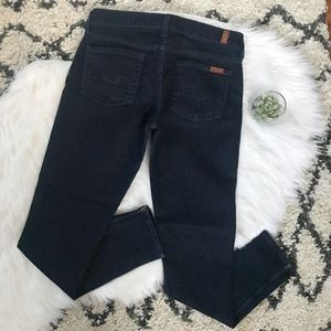 7FAM Gwenevere Dark Wash Ankle Zip Skinny Jean